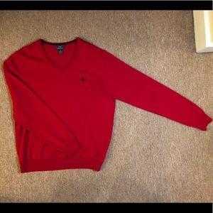 Brooks Brothers V Neck Sweater Red Size Medium